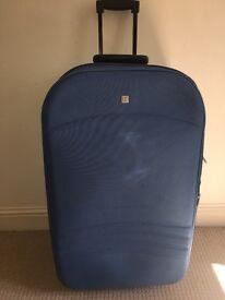 Blue large suitcase for sale