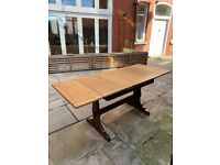 Extendable wooden dining table / desk (Ercol brand)