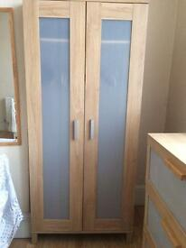 Wardrobe with matching chest of drawers