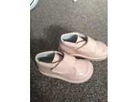 Baby Op pink patent boots in a size 24