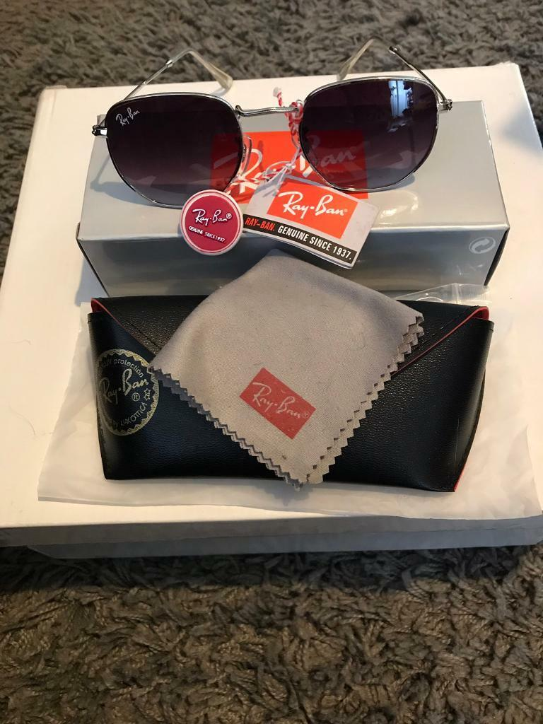 a7772cc58a56 PayPal accepted ray ban hexagonal sunglasses silver frame dark tint lens brand  new in box rayban