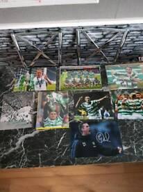 Celtic FC Signed Photos x 8