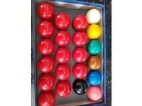 Aramith snooker balls full size