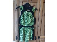 River Island beautiful green and black playsuit