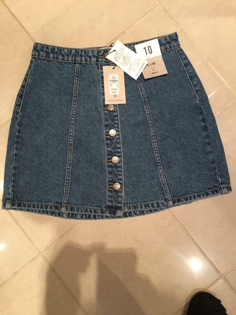 Clothing, Shoes & Accessories Denim Skirt Ladies Size Small Brand New