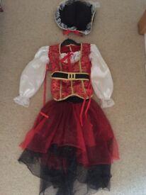 Girls Princess of the seas pirate dress (4-6 Years)