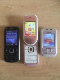 3 NOKIA CAMERA MOBILE PHONES FOR SALE