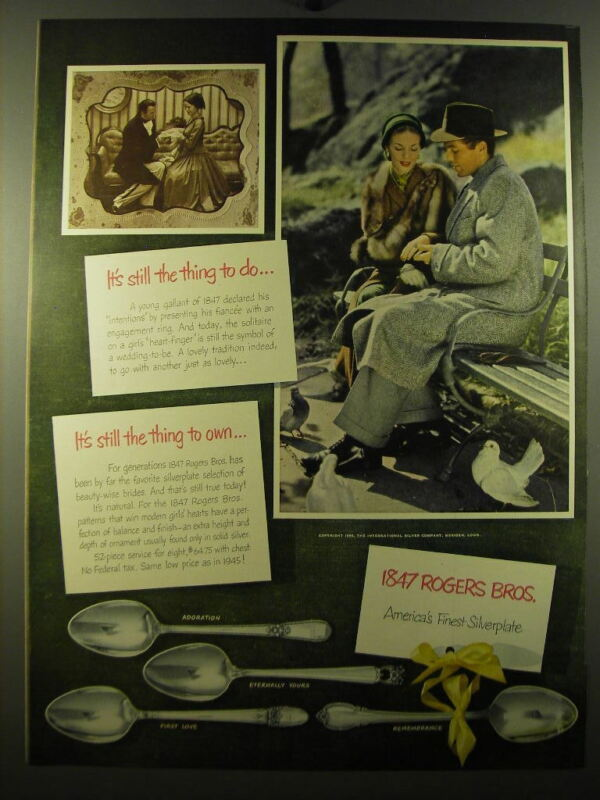 1950 1847 Rogers Bros. Silver Advertisement