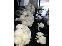 Fabulous Wedding Package Ivory Faux Roses New