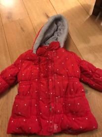 Junior J Red girls Coat 4-5