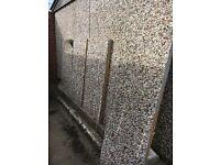 Concrete Garage Sections/garage door