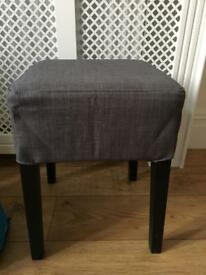 Ikea stool with grey cover