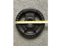 TNP high-quality 5 kg cast-iron olympic tri-grip weight plate