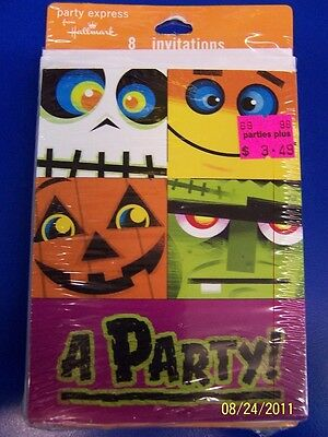 Halloween Pals Pumpkin Jack O' Lantern Carnival Party Invitations w/Envelopes