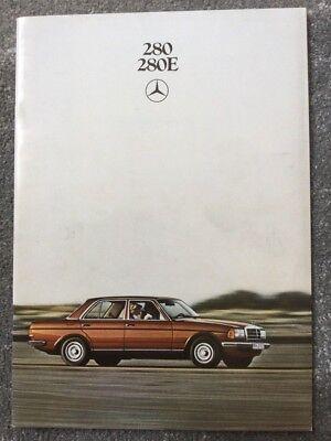 Mercedes-Benz 280E W123 Saloon 1979 UK Market Sales Brochure