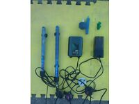 Aquarium Equipment including Two Heaters a Twin Outlet Air Pump and a Small Filter