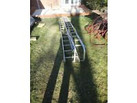 PAIR OF LADDERS PLUS ROOF HOOK KIT