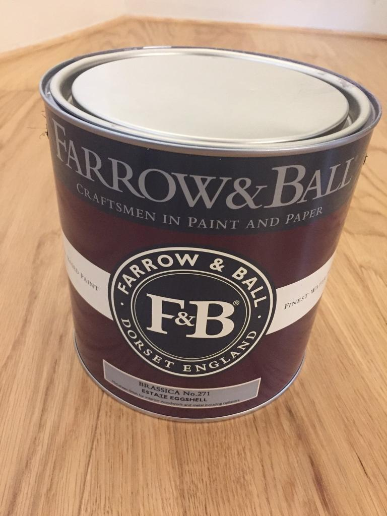 Farrow & Ball Large Tin (2.5l) Brassica Eggshell Bought for £60