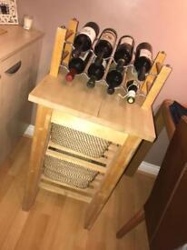 Butchers block (Excl wine rack/baskets)