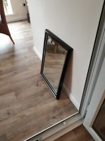Large Black Marble/Silver Effect Mirror