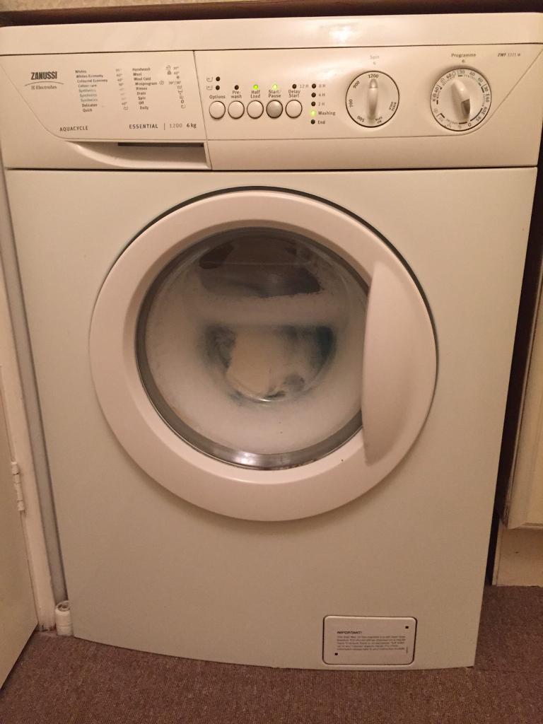 Zanussi Aquacycle 1200 Spin 6kg Washing Machine In