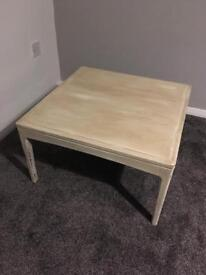 Cream distressed laura Ashley coffee table wooden swuate