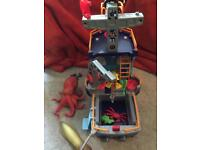 Imaginext fishing boat with creatures and figures