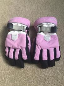 Girls Pink Hestra Ski Gloves