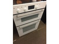 INDESIT IDD6340WH DOUBLE OVEN - WHITE