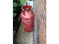 Empty 18kg gas bottle cylinder, in swinton