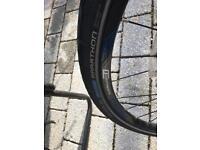 Bike rim with tyre