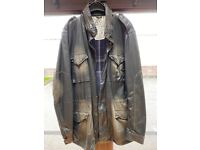 Mens French Connection Waxed Coat size large