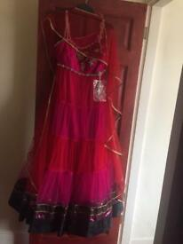 Pink heavy Indian dress