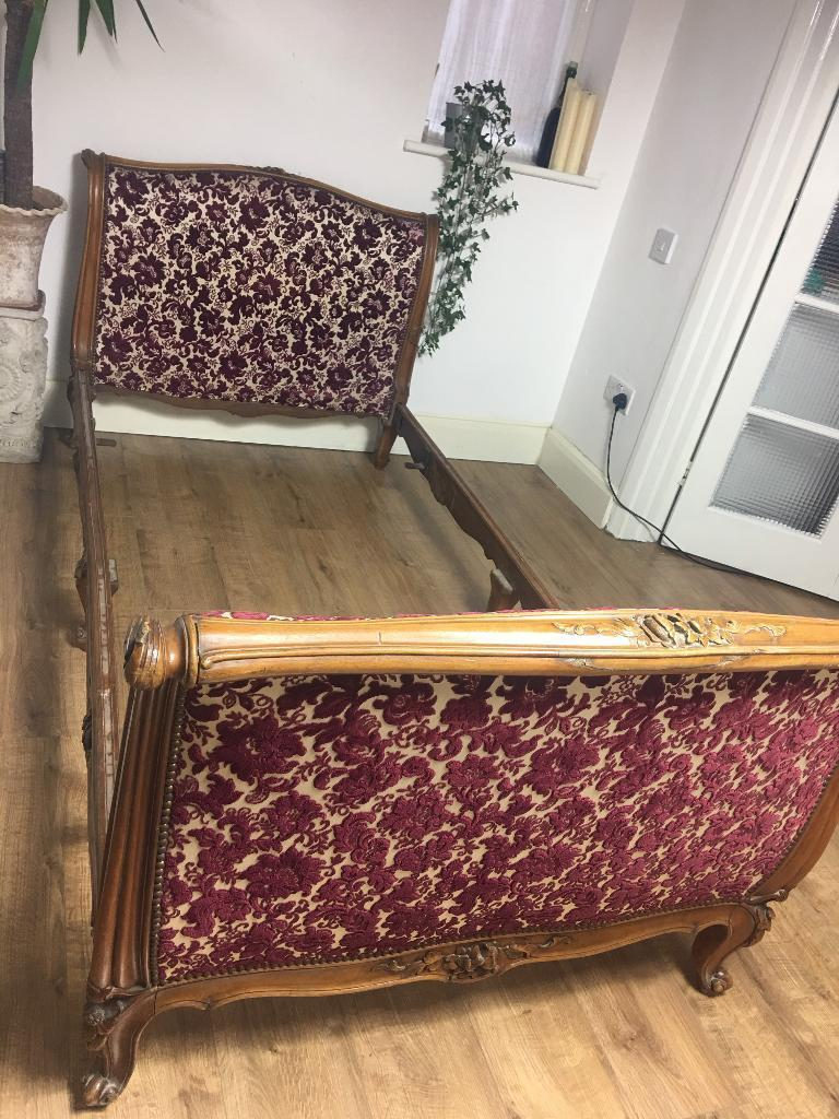 GENUINE FRENCH SINGLE BED FREE DELIVERY ANTIQUE BED