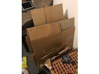 15 medium sized packing boxes