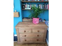 Vintage Victorian pine chest of drawers