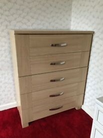 Two matching modern chest of drawers