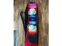 Women's Bataleon Distortia Snowboard 143 w/ Dakine bag and Drake Bindings