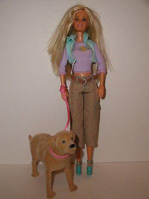 Barbie Doll & Tanner Pooping Dog Golden Labrador
