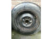 Wheel with Brandnew tyre 155/13
