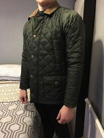 Men's Barbour Green Quilted Jacket - Size S