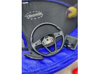 Seat Leon steering whee, Geerstick, handbrake.