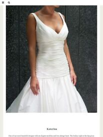Stunning Ivory and co silk wedding dress. New size 12