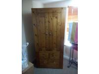 large wooden wardrobe