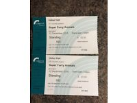 2xsuper furry animals tickets usher hall