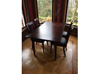 Marks and Spencer Extendable Dining Room Table and set of 4 Chairs
