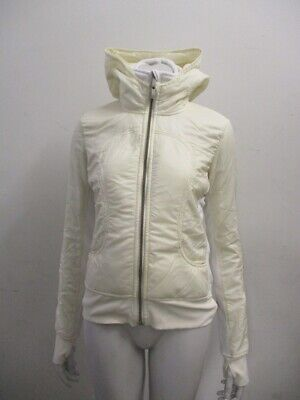 Lululemon UBA HOODIE Jacket with Zip-In Vest Polar Cream Size 6