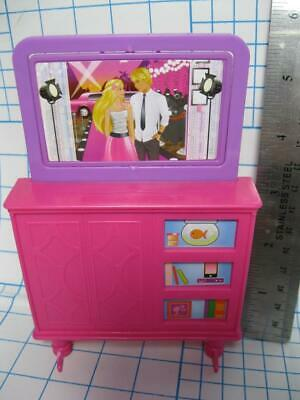 BARBIE doll dream TOWNHOUSE 3 Story Life in the Dream HOUSE FURNITURE FLIP TV