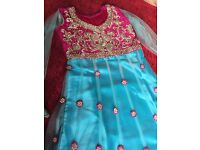 "Velvet & net Dress size 26"" length or 7-8 yrs"