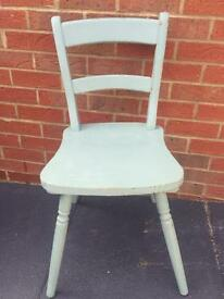 Painted distressed shabby chic farmhouse pine chair